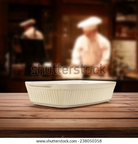kitchen interior and plate