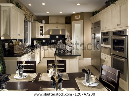 Kitchen Interior Architecture Stock Images,Photos of Living room, Bathroom,Kitchen,Bed room, Office, Interior photography. - stock photo