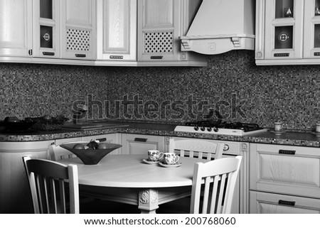 Kitchen Interior Design Architecture Photo, Pictures Living - stock photo