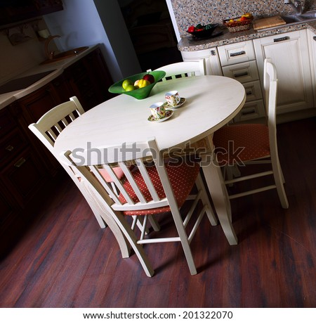 Kitchen Interior Design Architecture Photography, Pictures Living - stock photo