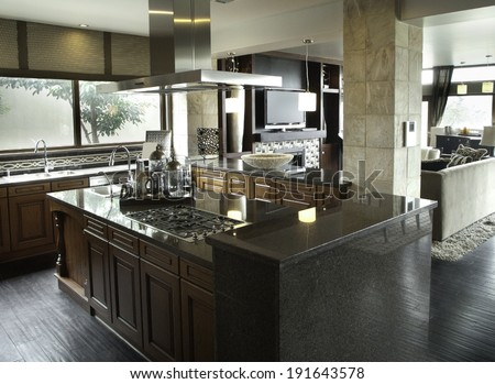Kitchen Interior Design Architecture Stock Images,Photos of Living room, Bathroom,Kitchen,Be d room, Office, Interior photography.  - stock photo