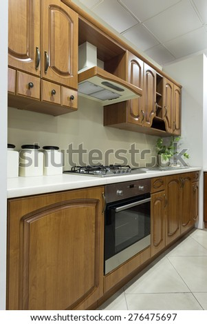 Kitchen interior - wooden kitchen elements