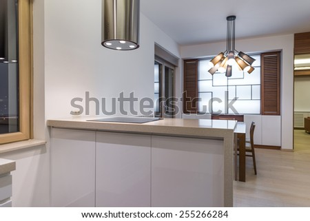 kitchen island - stock photo