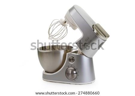 Kitchen machine isolated on white background - stock photo
