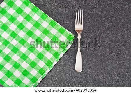 Kitchen Napkins Serving on Dark background. Studio Photo - stock photo
