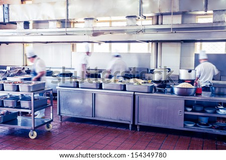 kitchen of a chinese restaurant - stock photo