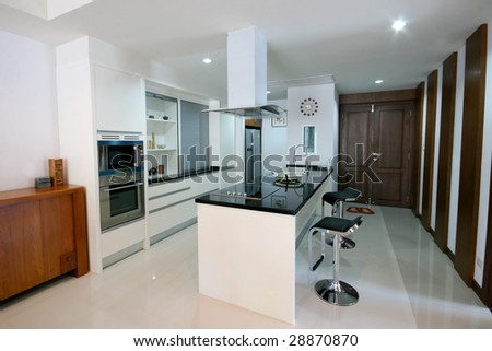 Kitchen of a modern house - home interiors.
