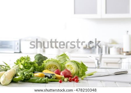 Kitchen of vegetables