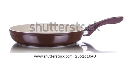 Kitchen pan, isolated on a white - stock photo