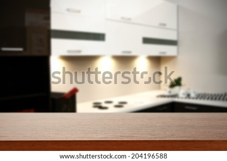 kitchen place and desk