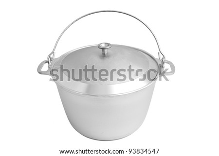 Kitchen pot for cooking - stock photo