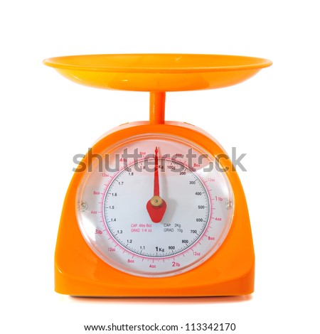 kitchen scale with clipping path