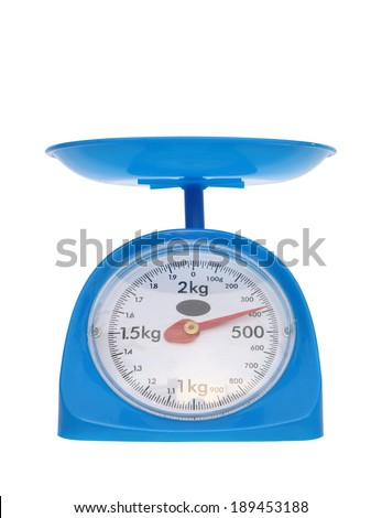 kitchen scales isolated on white background (400 gram)