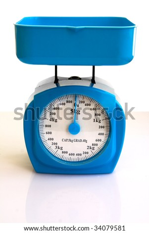 Kitchen Scales isolated over white
