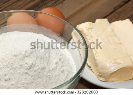 Kitchen. set for making pastries. Rustic vintage. - stock photo