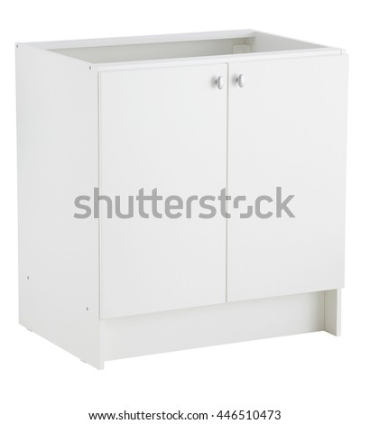 Kitchen sink cabinet isolated on white background. Include clipping path.