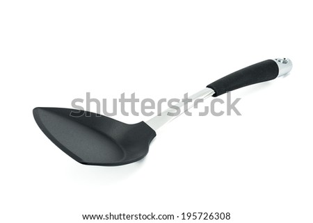 Kitchen spatula on white background - stock photo