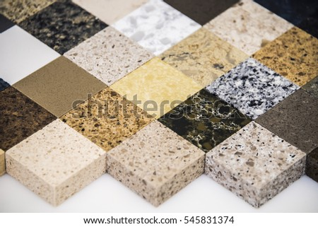 Kitchen Surfaces Made From Natural Stone Granite And Marble And From Man  Made Stone Quartz.