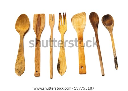 kitchen tools on a white background