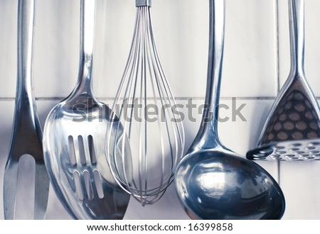 Kitchen tools. Set of tools for cooking. - stock photo