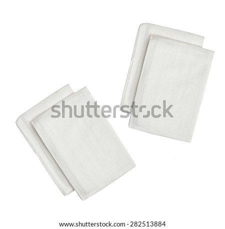 kitchen towels isolated on a white background3 - stock photo