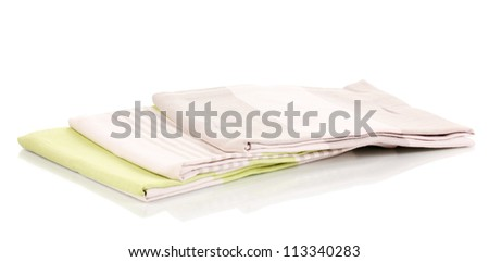 Kitchen towels isolated on white background