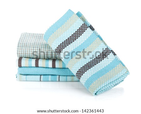 Kitchen towels. Isolated on white background