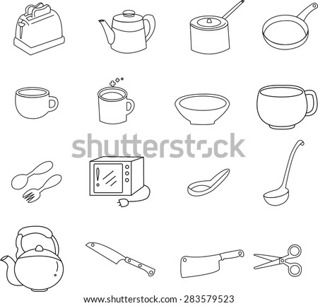 kitchen utensil icons.