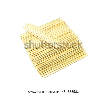 Kitchen utensils, Pile of bamboo Skewers