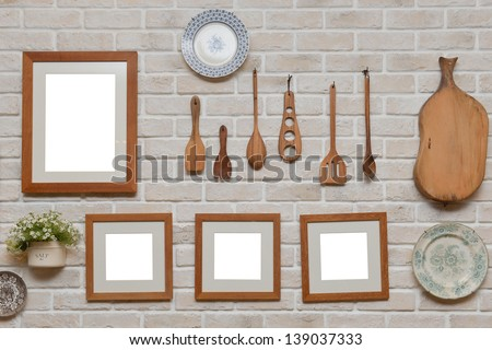 Kitchen Wall Decoration Frame Design Ideas Stock Photo (Safe to Use ...