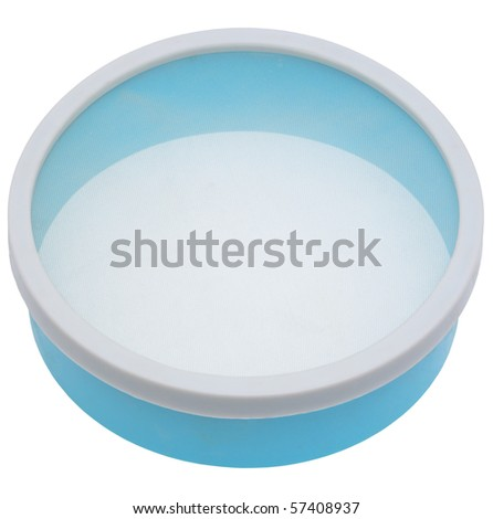 Kitchen ware, sieve on a white background.