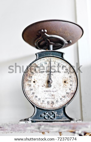 Kitchen Weighing Scale - stock photo