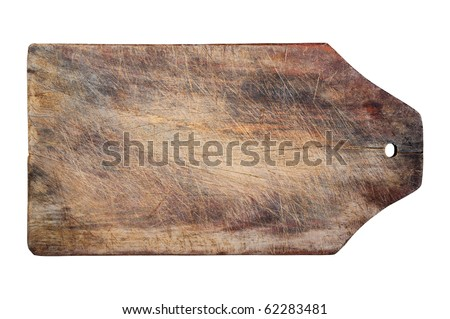 Kitchen wooden table, isolated, copy space, clipping path. - stock photo