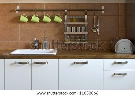 kitchen worktop - stock photo