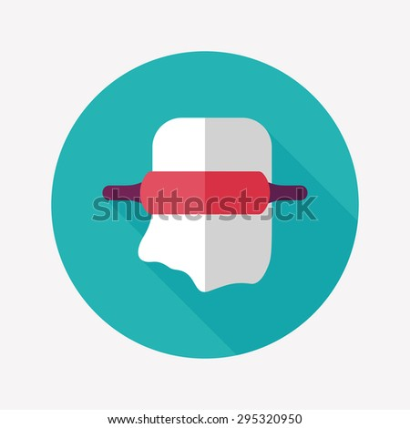 kitchenware rolling pin flat icon with long shadow - stock photo