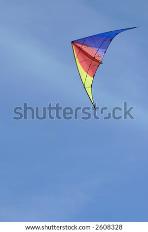 Kite against blue sky