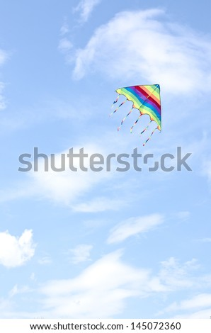 kite flying in the clouds