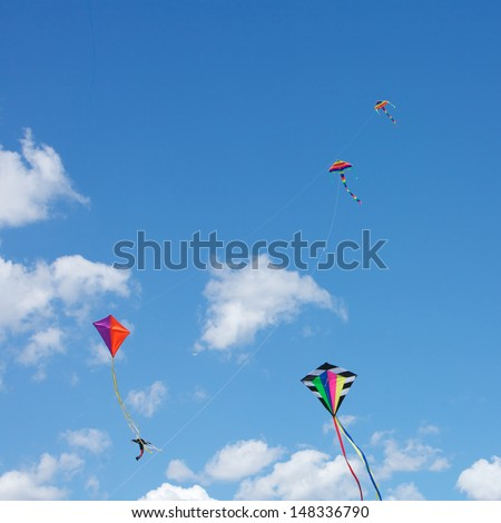 Kite Flying in the sky, fun and excitement