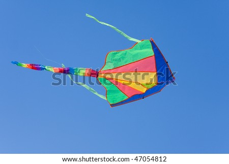 kite flying on a blue sky