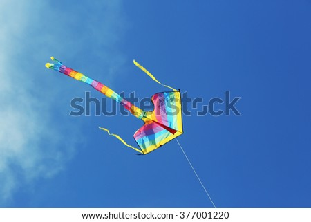 Kite in blue sky background