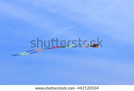 Kite in the Air Flying - stock photo