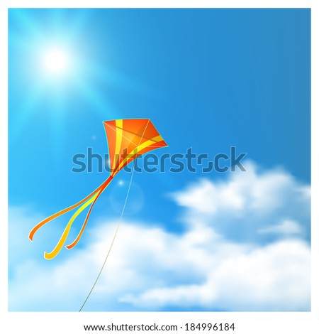 Kite in the Sky. Raster version.