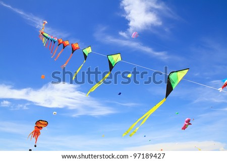 kite  on  blue sky
