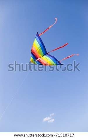 kite on clear blue sky