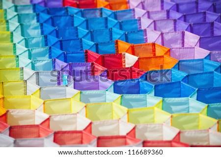 Kite's colorful texture. - stock photo