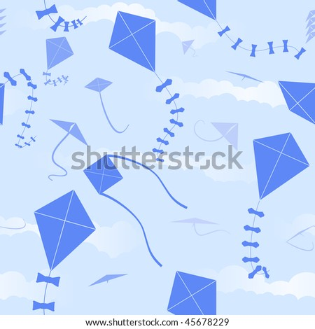 Kite seamless background - raster