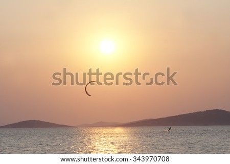 Kite surfer  - stock photo