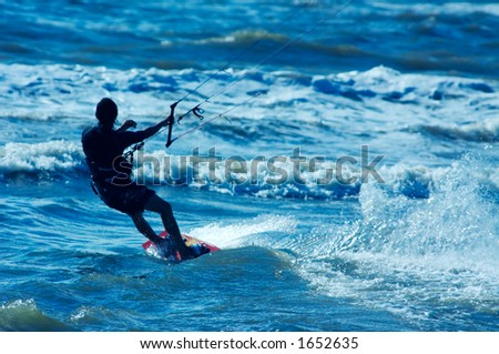 kite surfer in action - stock photo