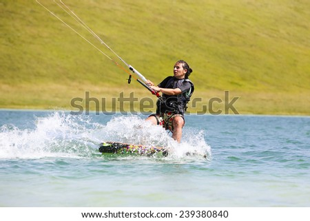 Kite Surfing Girl - stock photo