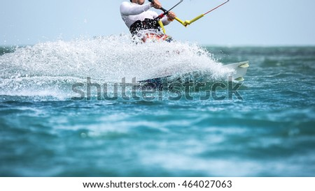 Kitesurfing, Kiteboarding action themed photo